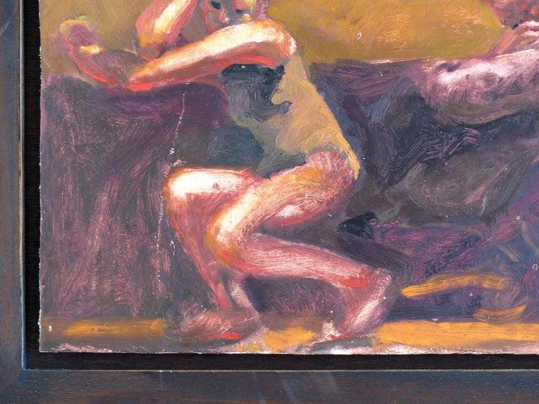 20th Century Kevin Sinnott, Oil Painting on Wood Panel Titled
