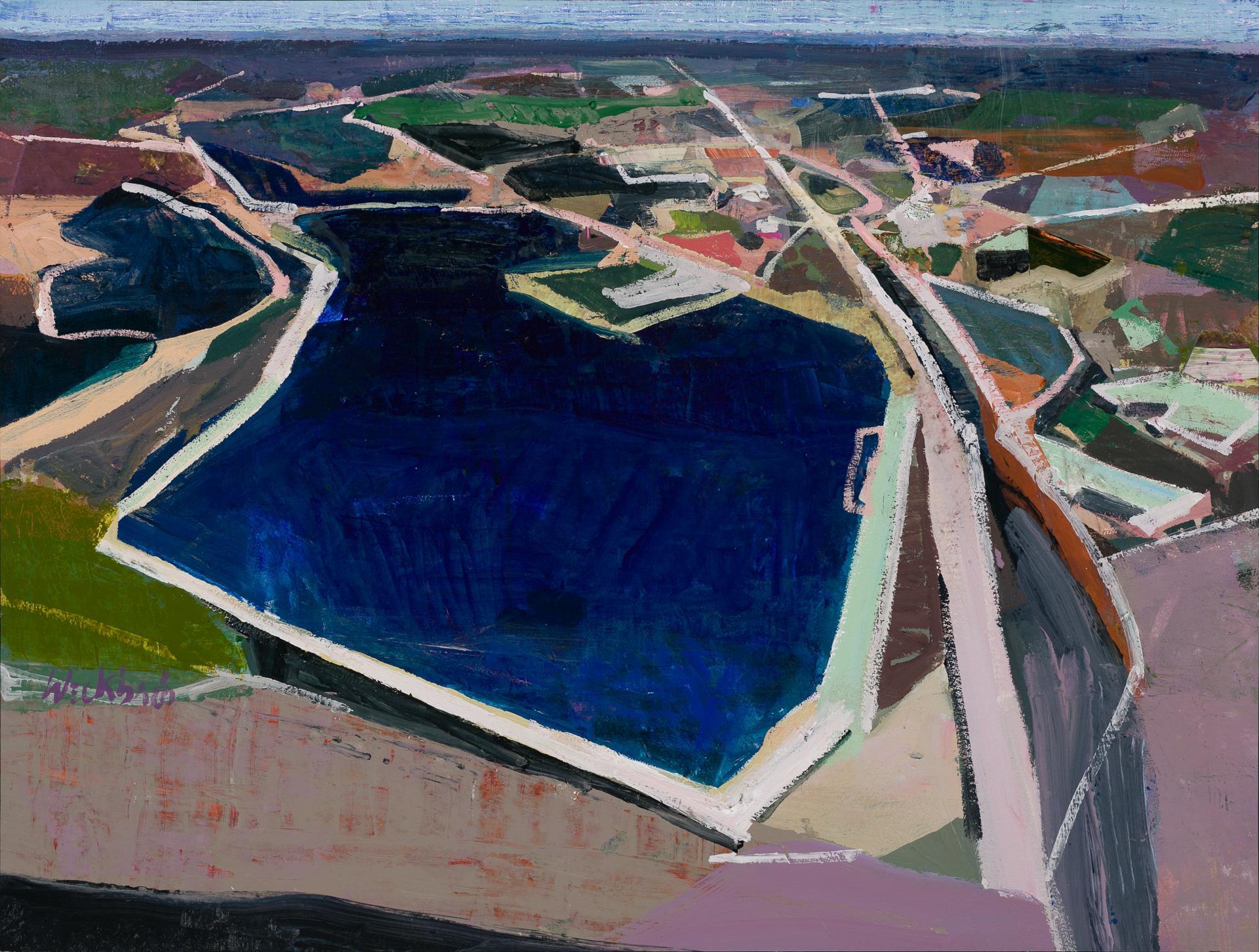 """Deep Blue"", Oil Painting"
