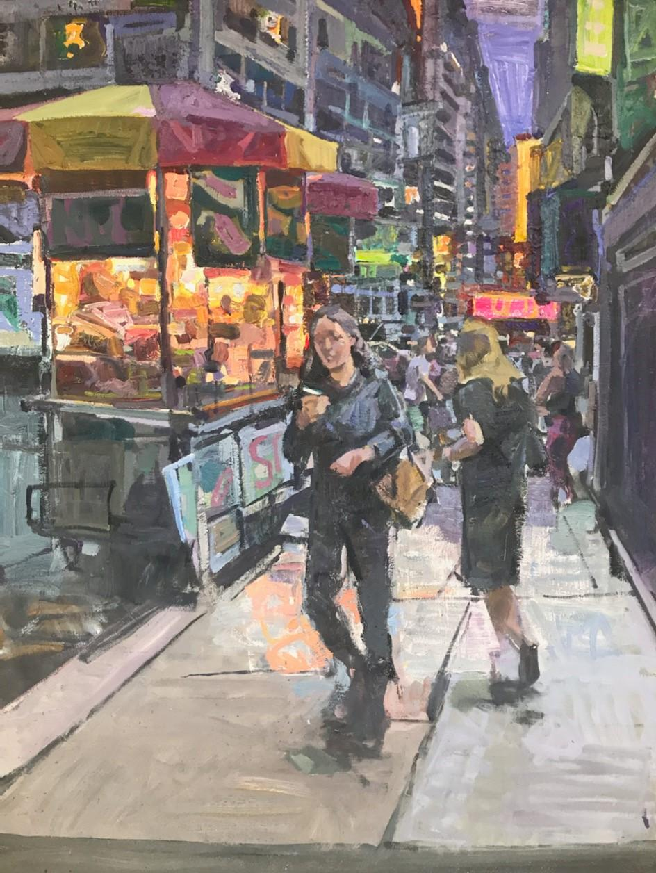 """""""Hot Dog Stand"""", Oil Painting"""
