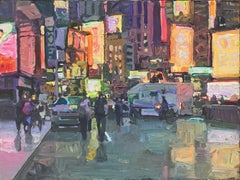 """""""Times Square"""", Oil Painting"""