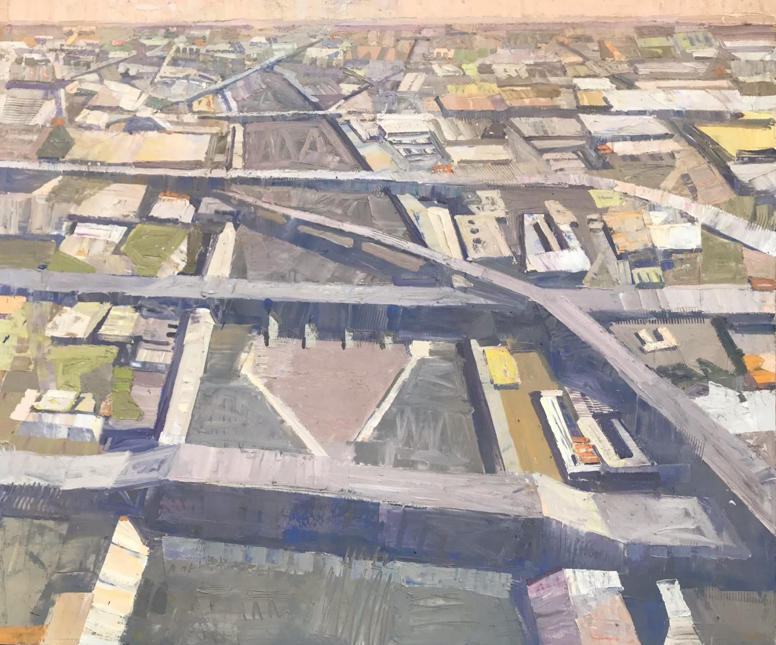 """Urban Stream"", Oil Painting"