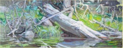 """""""Wading Log"""", Oil Painting"""