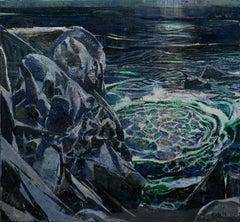 """Whirlpool"", Oil Painting"