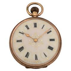 Key-Less Antique 9 Karat Gold Dimier Freres & Cie. Ladies Fob / Pocket Watch