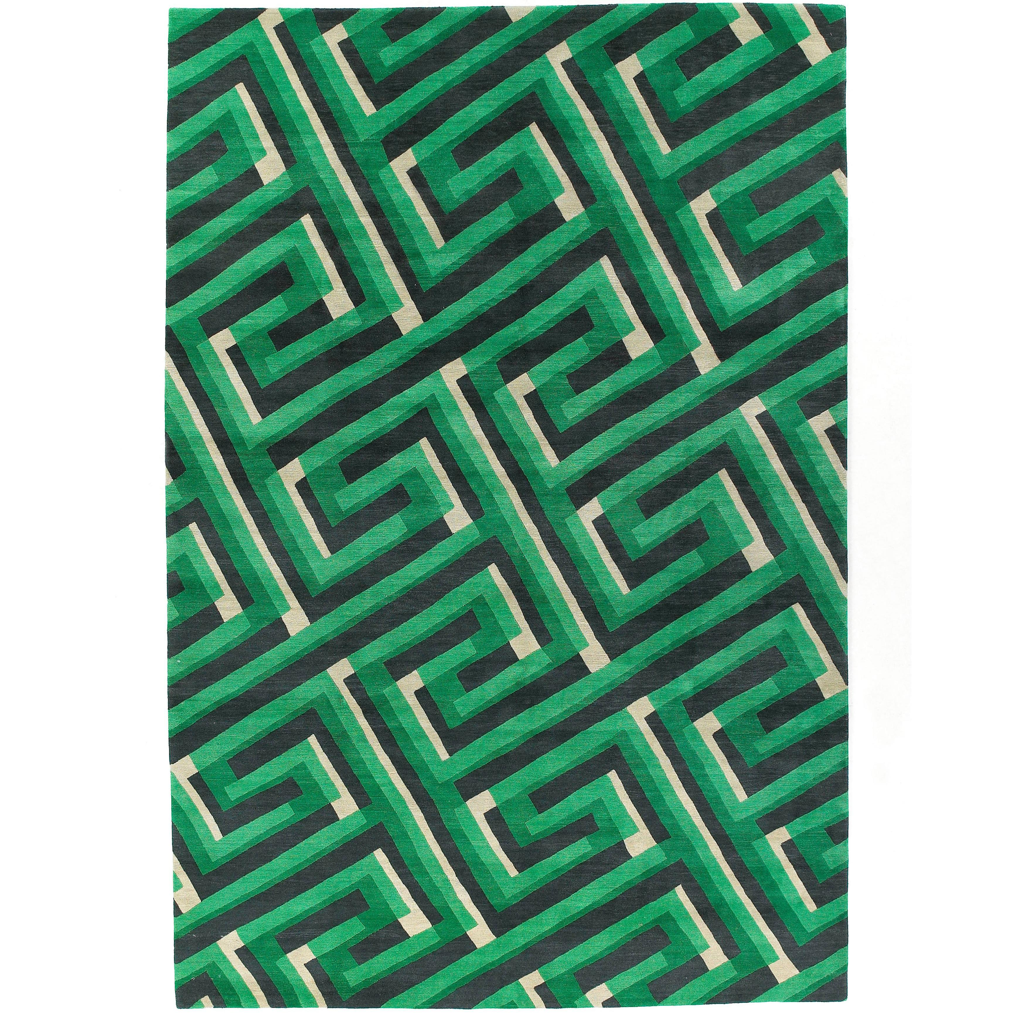 Key Shadow Hand-Knotted 10x8 Rug in Wool by Suzanne Sharp