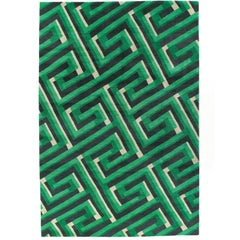 Key Shadow Hand-Knotted 6x4 Area Rug in Wool by Suzanne Sharp