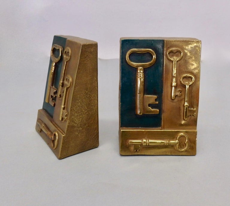 20th Century Key to Knowledge Bookends For Sale