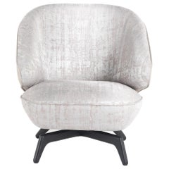 Key West Armchair in Jacquard and Leather by Roberto Cavalli Home Interiors