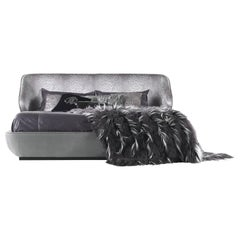 Key West Bed in Leather and Fabric by Roberto Cavalli