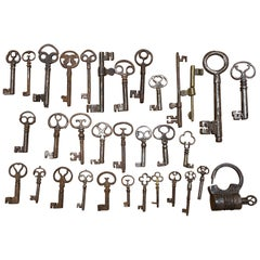 Keys, Iron Fitting and Lock Collection, Wrought Iron, 17th-19th Century