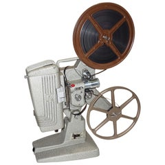 Keystone Vintage Movie Projector circa 1950s, Pristine, with Film and Reels, Wow