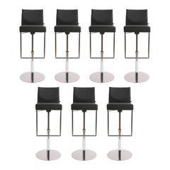 KFF Set of Seven Glooh Vinyl Swivel Stools