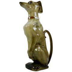 K&G Saint Clément French Barbotine Majolica GYPP Whippet Dog Absinthe Pitcher
