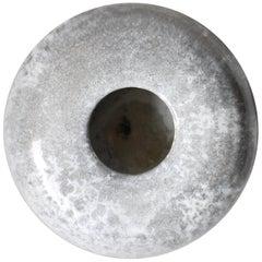 KH Würtz Curling Stone Shaped Vase in Silver Glaze