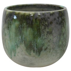 KH Würtz Eastern Shape Bell Planter in Green Glaze