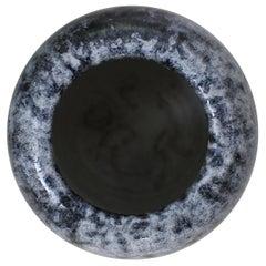 KH Würtz Egg Shaped Vase in White and Blue Glaze