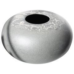 KH Würtz Large Pebble Vase in Blistered Lead Glaze