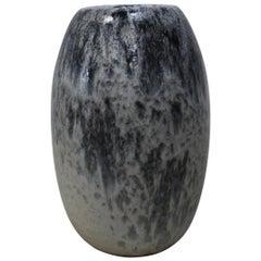 KH Würtz Ovoid Vase in White and Blue Glaze