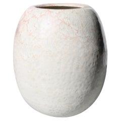 Kh Würtz Round Egg Shaped Vase Blush Glaze