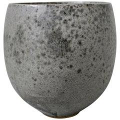 KH Würtz Small Bonshō Bell Shaped Planter in Grey Glaze