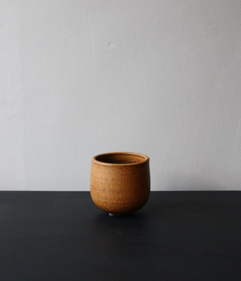 The constant experimentation at the KH Würtz workshop has created a new line of glazes of which are the first pieces to land in London. These are all reduction glazes shaped by the oxides inside the clay rather than the glazes applied on top of the