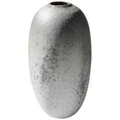KH Würtz Tall Torpedo Shaped Vase in Granite Glaze