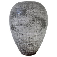 KH Wurtz Textured Large Baluster Shaped Granite Glaze