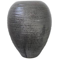 KH Würtz Textured Large Baluster Shaped Urn in Granite Glaze