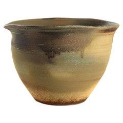 Khaki, Dark Brown and Sage Ceramic Drip Glaze Bowl, China, Contemporary
