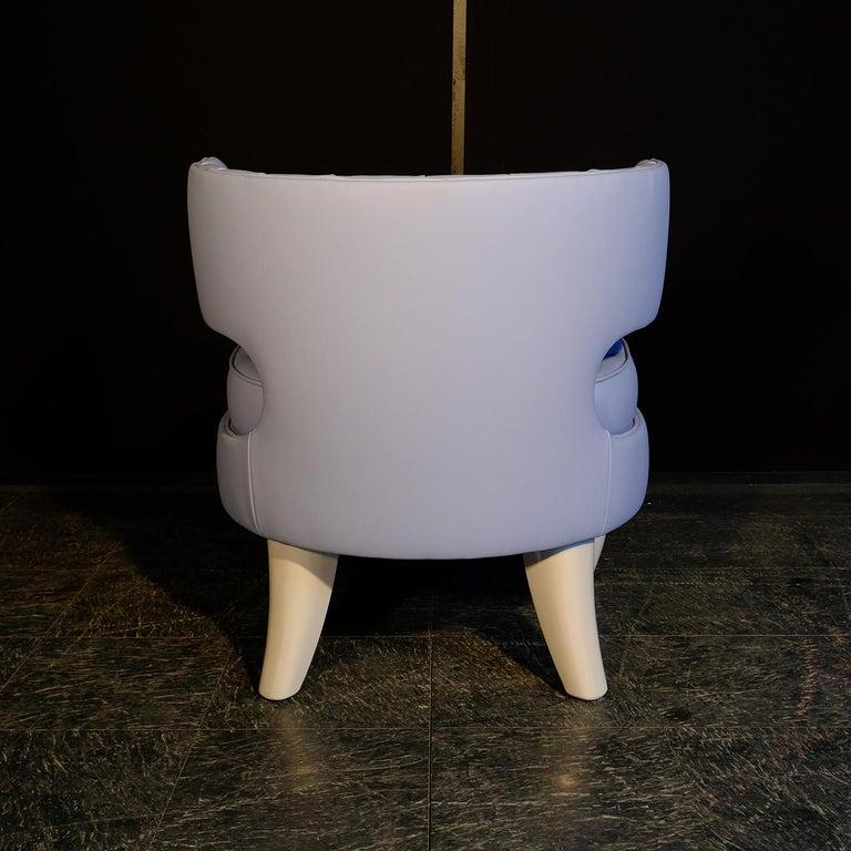 Italian Khaktus Light Blue Armchair For Sale