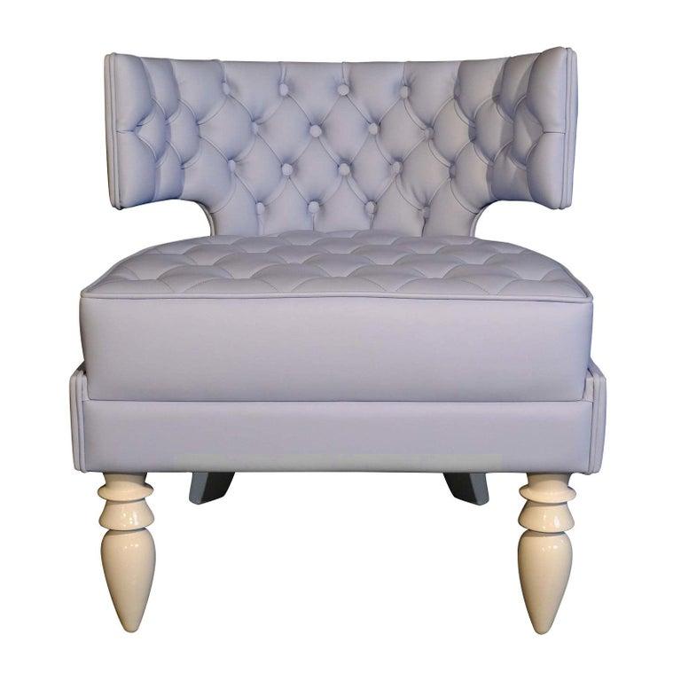 Khaktus Light Blue Armchair For Sale