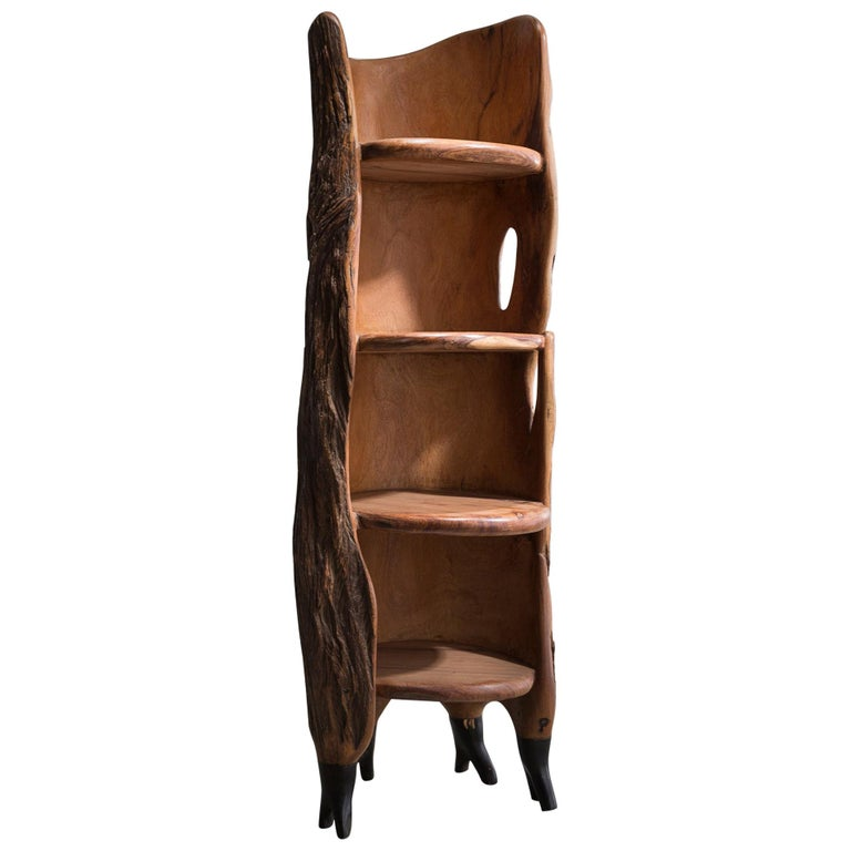 """""""Khamb (Thunder Cabinet)"""" Sculpture in Hardwood by Babacar Niang, 2014 For Sale"""