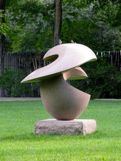 Cosmos, polished granite abstract sculpture by Khang Pham-New outdoor sculpture