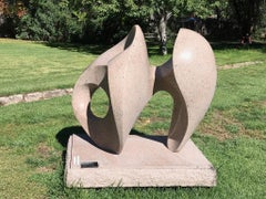 Dance With Wisdom, Khang Pham-New pink granite abstract sculpture outdoor indoor