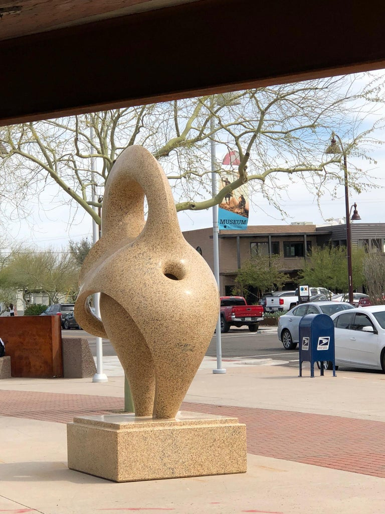 Realm of Passion, monumental granite sculpture Khang Pham-New, elephant abstract For Sale 2