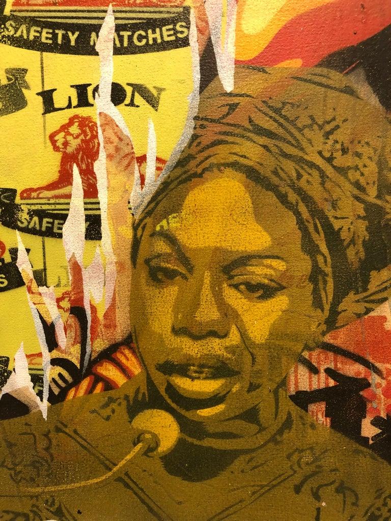 Mind Control Colorful Edgy Pop Art Meets Street Art Original Painting