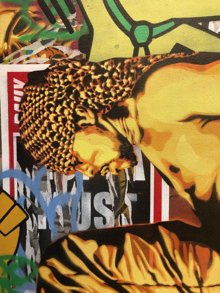 Podium Colorful Edgy Pop Art Meets Street Art Original Painting With Graffiti
