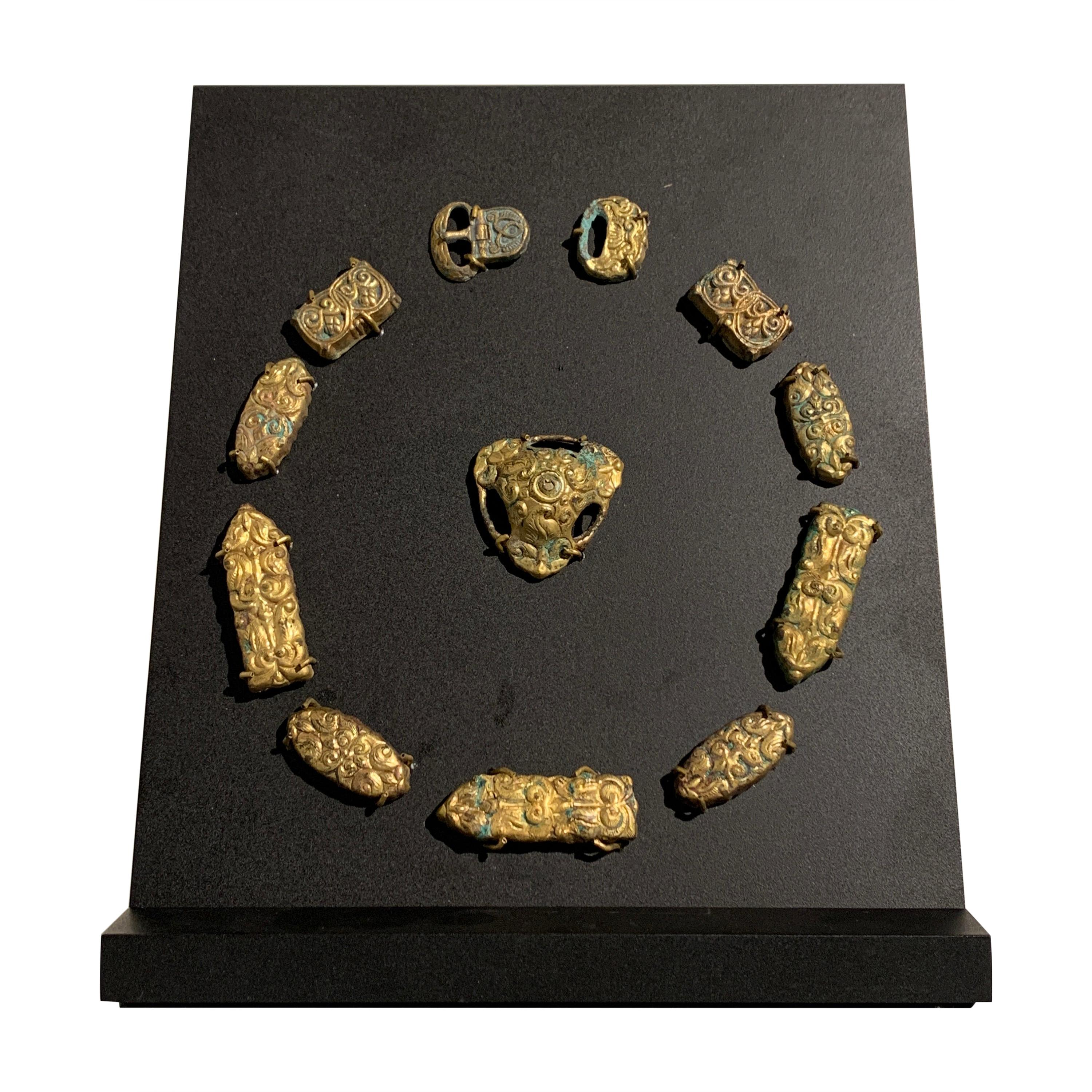 Khitan Liao Dynasty Gold Clad Horse Trappings, 10th-11th Century, China