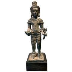 Khmer Bronze Statue of Vishnu Cambodia