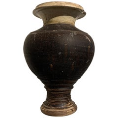 Khmer Brown and Celadon Glazed Vase, Angkor Wat Period, 11th-12th Century