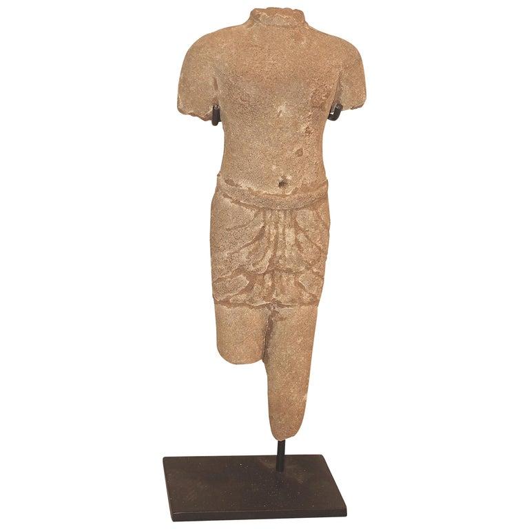 Khmer Male Figure Statue, Cambodia, Contemporary For Sale