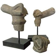 Khmer Stone Mudra Hands