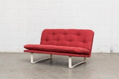 Kho Liang Ie C684 Love Seat for Artifort in Raspberry