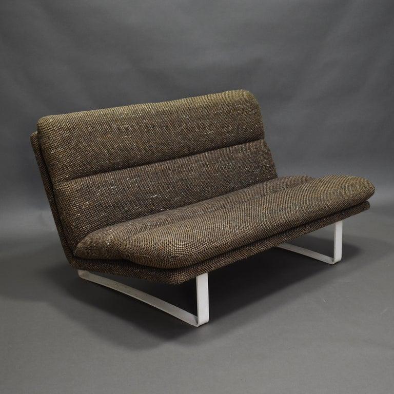 C682 sofa by Kho liang Ie for Artifort in original wool De Ploeg fabric, 1960s  Designer: Kho Liang Ie  Manufacturer: Artifort  Country: Netherlands  Model: C682 sofa  Design period: circa 1960s  Date of manufacturing: circa
