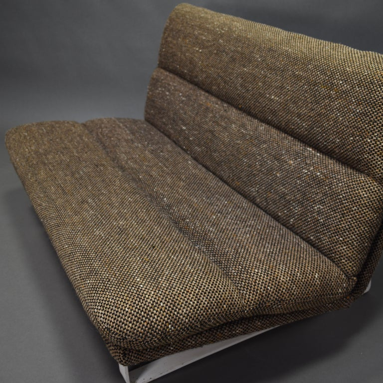 Metal Kho Liang Ie Two-Seat Sofa for Artifort, Netherlands, circa 1968