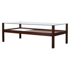 Kho Liang Le for t'Spectrum Wenge and Glass Coffee Table