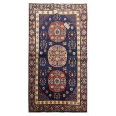 Khotan Antique Rug, Handmade Carpet Oriental Wool Living Room Rugs for Sale