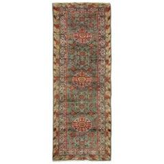 Khotan Antique Rug Handmade Carpet Runner, Vibrant Wool Oriental Rug Runner