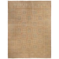 Khotan Blue and Beige Wool Rug
