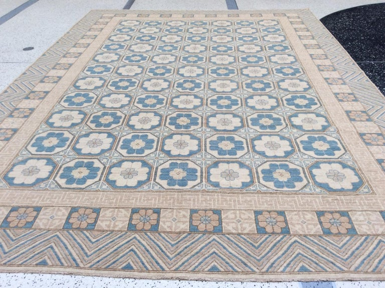 Hand-Knotted Khotan Rug For Sale